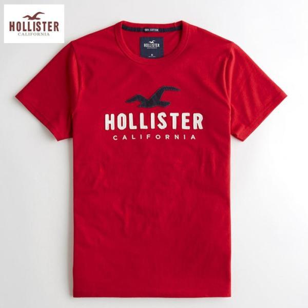 Hollister Co.ホリスター Tシャツ  h1478 レッド 赤 アメリカ正規入荷|5445