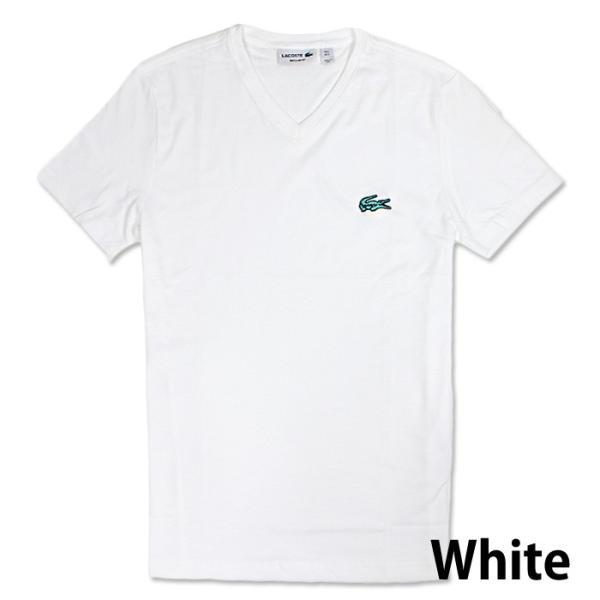 LACOSTE ラコステ メンズ ビッグロゴ ワンポイント Vネック Tシャツ 5色 la13|5445|02