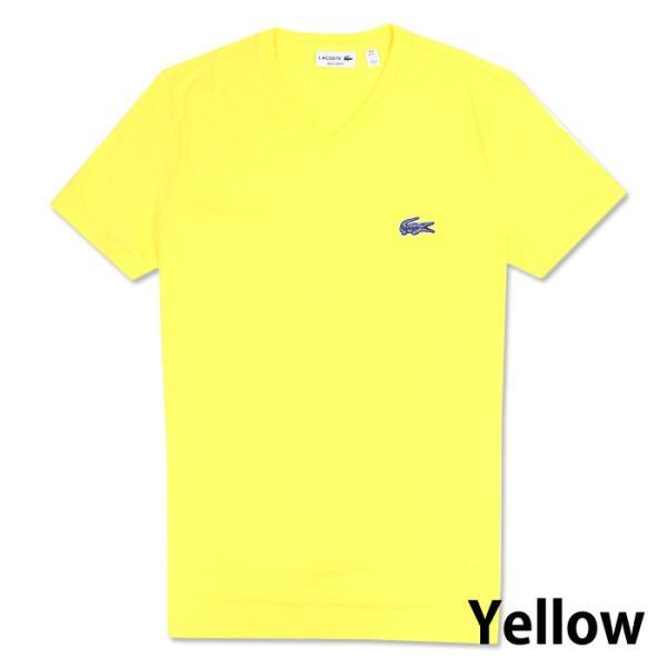 LACOSTE ラコステ メンズ ビッグロゴ ワンポイント Vネック Tシャツ 5色 la13|5445|03