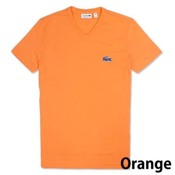 LACOSTE ラコステ メンズ ビッグロゴ ワンポイント Vネック Tシャツ 5色 la13|5445|04