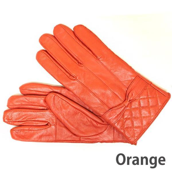 本革 手袋  レザー グローブ ラム革 レディース 女性用 てぶくろ zakka130 送料無料 ピンク オレンジ ベージュ ブラウン|5445|05