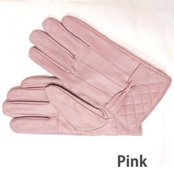 本革 手袋  レザー グローブ ラム革 レディース 女性用 てぶくろ zakka130 送料無料 ピンク オレンジ ベージュ ブラウン|5445|07