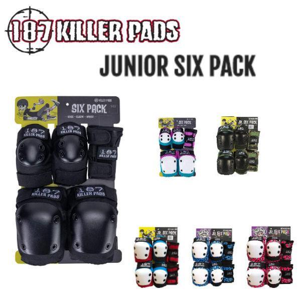 187 キラーパッド 187 KILLER PADS JUNIOR SIX PACK ジュニア キッズ プロテクター リストガード エルボーパッド ニーパッド 3点セット ONE SIZE 正規品
