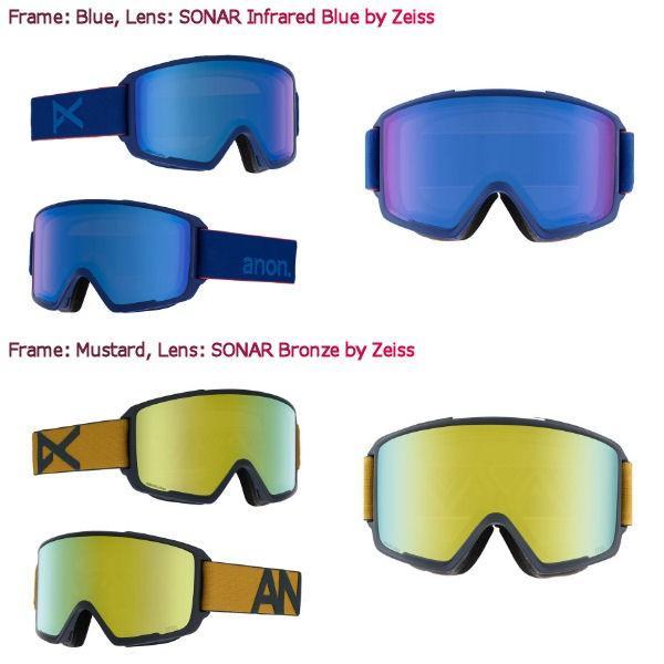 アノン ANON メンズ スノーゴーグル スノーボード アジアンフィット 9カラー Mens Anon M3 Goggle + Spare Lens 54tide 04