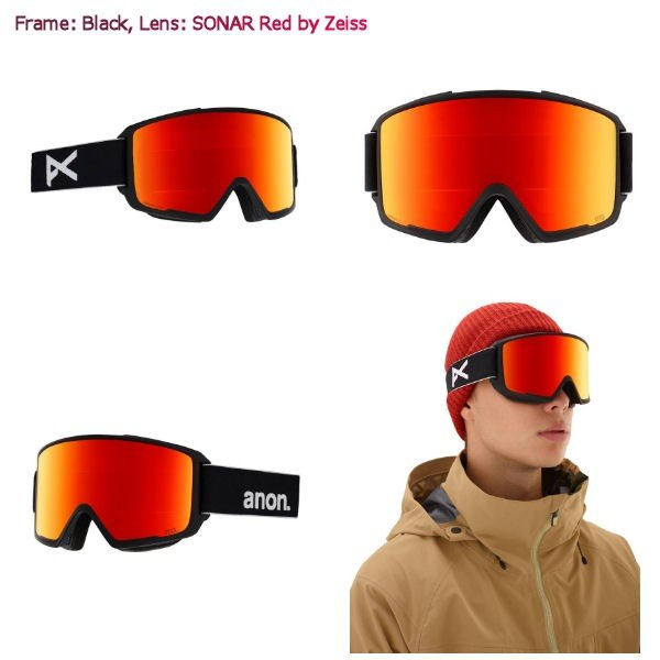 アノン ANON メンズ スノーゴーグル スノーボード アジアンフィット 9カラー Mens Anon M3 Goggle + Spare Lens 54tide 06