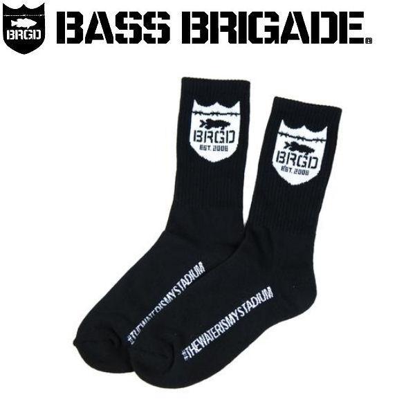 バスブリゲード BASS BRIGADE メンズソックス 靴下 アウトドア フィッシング BK SHIELD CREW SOCKS|54tide