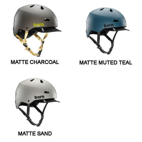 バーン BERN MACON VISOR メイコン バイザー メンズ ヘルメット プロテクター 耳あてなし スケート スノー 自転車|54tide|03
