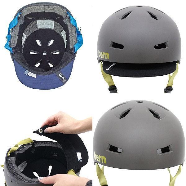 バーン BERN MACON VISOR メイコン バイザー メンズ ヘルメット プロテクター 耳あてなし スケート スノー 自転車|54tide|04