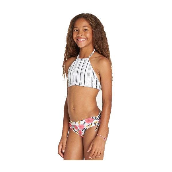 ビラボン BILLABONG キッズ ビキニ 水着 リバーシブル スイムウェア ウエア 子供用 ガールズ 女の子 120cm-150cm MUL Girls Sun Dream High Neck Bikini Set|54tide|02