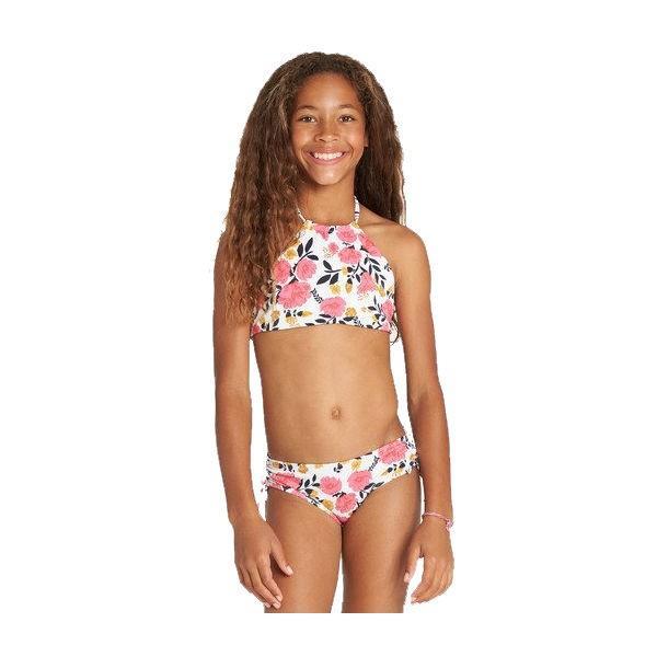 ビラボン BILLABONG キッズ ビキニ 水着 リバーシブル スイムウェア ウエア 子供用 ガールズ 女の子 120cm-150cm MUL Girls Sun Dream High Neck Bikini Set|54tide|03