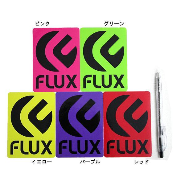 FLUX BINDING 愛車 スノーボード ビンディングに!フラックス 縦LOGOステッカー 8cm×11cm ピンク グリーン イエロー パープル レッド 54tide