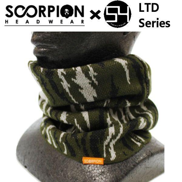 スコーピオン SCORPION×54TIDEヘッドウェア ウエア2014 54限定 N-TIGER LTD Series メンズ レディース ネックウォーマー タイガーカモ柄 54tide 02