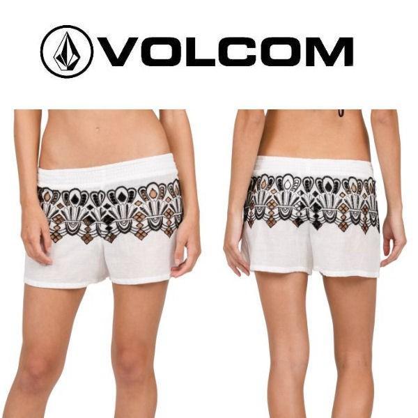 VOLCOM ボルコム FRONDS FOREVER SHORT レディース ショートパンツ 短パン 刺繍 ボトムス 正規品 54tide