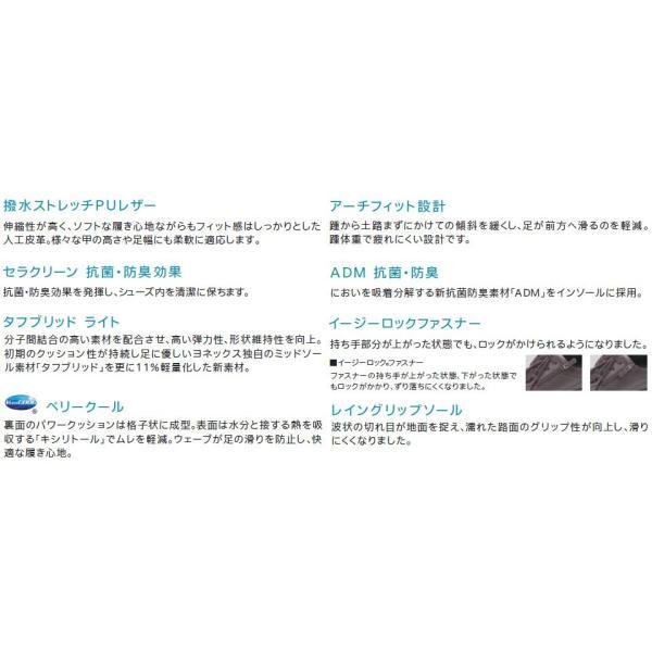 ヨネックス パワークッション ウォーキングシューズ レディース 靴/LC59/LC-59/パールベージュ/パールチャコール/3.5E/YONEX|55fujiya|04