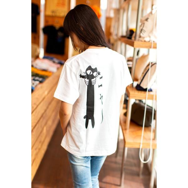 猫 Tシャツ メンズ レディース 半袖 LOVE CAT - ホワイト おもしろ ネコ ねこ 猫柄 雑貨 - メール便 - SCOPY スコーピー 55scopy 04