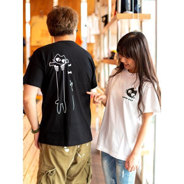 猫 Tシャツ メンズ レディース 半袖 LOVE CAT - ホワイト おもしろ ネコ ねこ 猫柄 雑貨 - メール便 - SCOPY スコーピー 55scopy 06