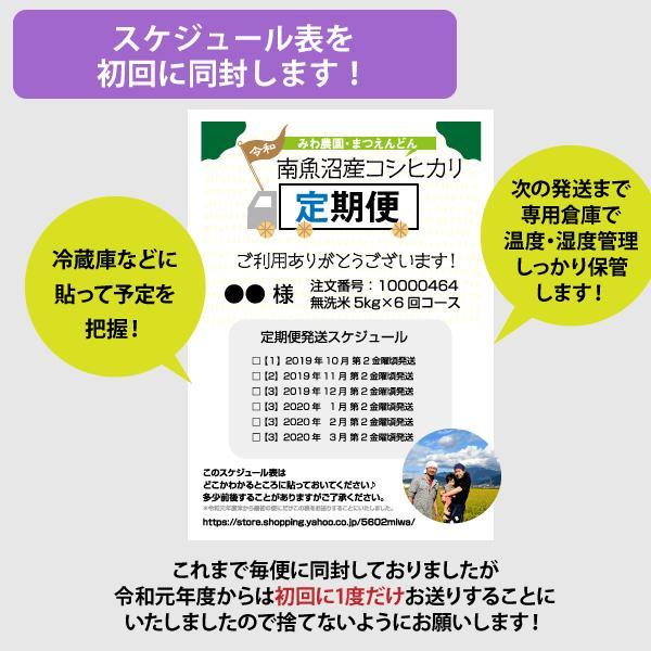 【定期便】玄米5kg×6回(6カ月コース)南魚沼産コシヒカリ|5602miwa|04