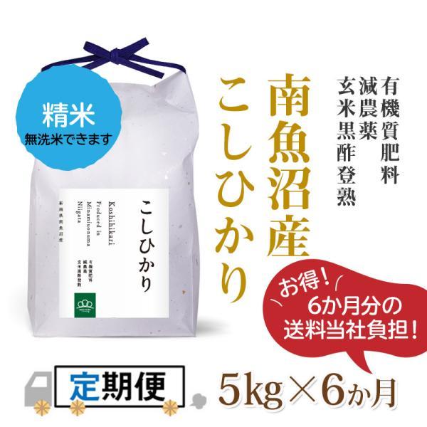 【定期便】精米5kg×6回(6カ月コース)南魚沼産コシヒカリ|5602miwa