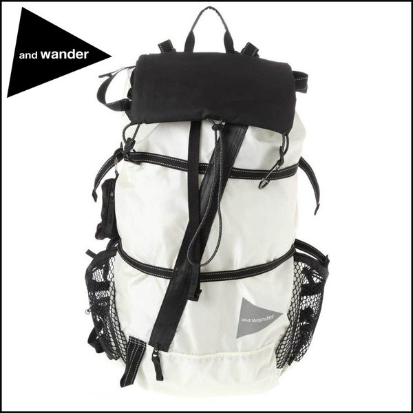 445459a619a8 and wander / アンドワンダー・40L back pack・White・AW-AA911 :AW ...