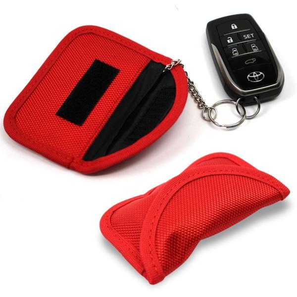 リレーアタック対策 電波遮断ポーチ スマートキー 盗難防止 電波遮断 ケース ポーチ キーケース 車 盗難 防止 対策 グッズ 鍵 スキミング防止|619apartment|14