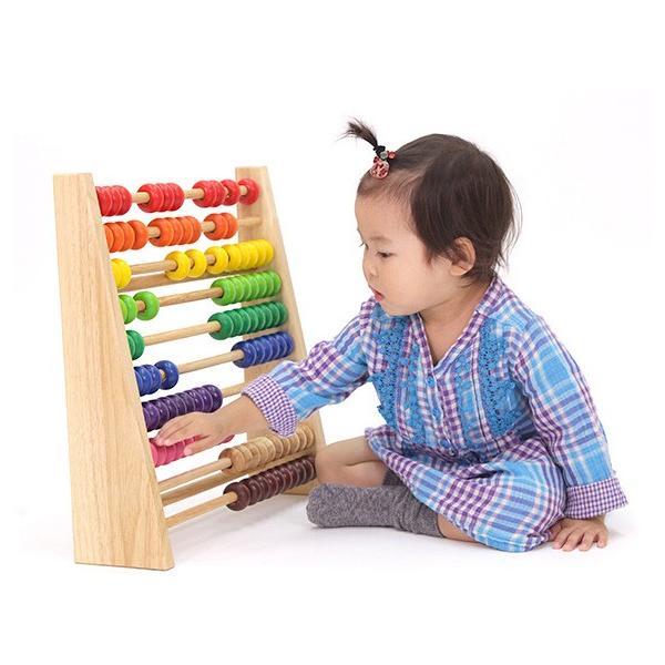 知育玩具 レインボーアバカス エデュテ  木製 そろばん 100玉 数 計算 誕生日 プレゼント お祝い 入園祝い 学習 子供 ママ 一部地域 送料無料|716baby|02