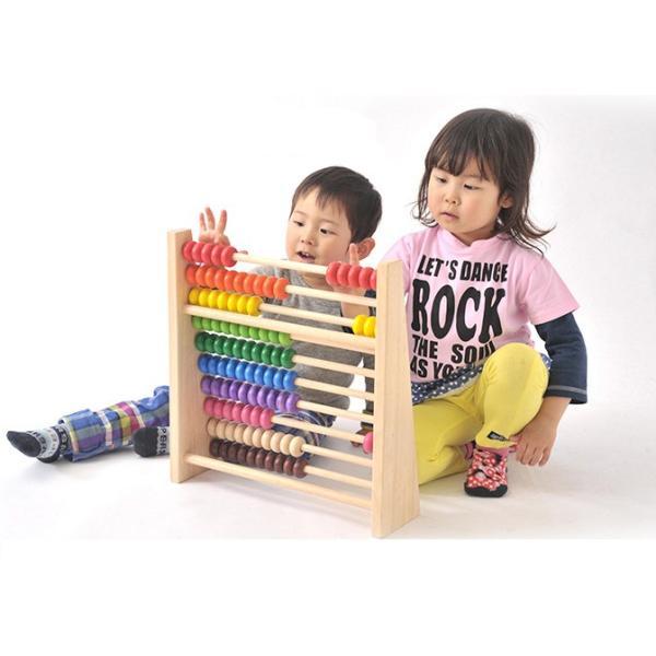 知育玩具 レインボーアバカス エデュテ  木製 そろばん 100玉 数 計算 誕生日 プレゼント お祝い 入園祝い 学習 子供 ママ 一部地域 送料無料|716baby|03
