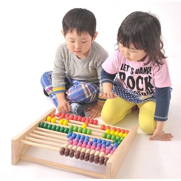 知育玩具 レインボーアバカス エデュテ  木製 そろばん 100玉 数 計算 誕生日 プレゼント お祝い 入園祝い 学習 子供 ママ 一部地域 送料無料|716baby|04