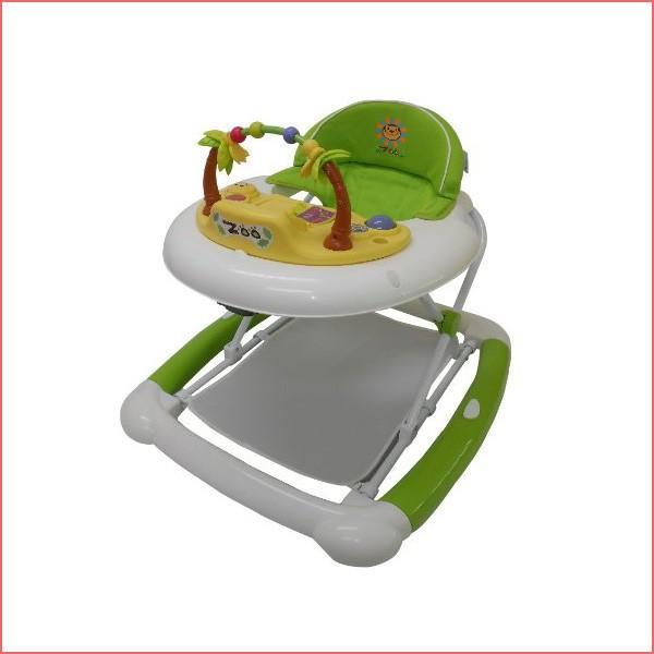 ベビーウォーカーZOO グリーン JTC まあるい歩行器 シンプル 乗用 おもちゃ 歩行訓練 便利 折りたたみ 誕生日プレゼント 子供
