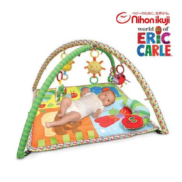 ベビージム はらぺこあおむし アクティビティ プレイジム 日本育児 エリックカール ベビー 赤ちゃん 子供 おもちゃ 室内遊具 出産 お祝い ギフト プレゼント