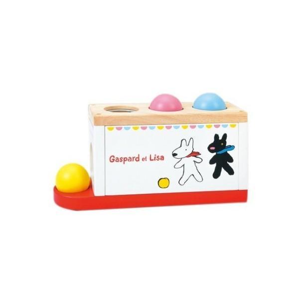 おもちゃ 木製 知育 ニチガンオリジナル  LG2 リサとガスパール とんとんボール リサガス ギフト 誕生日 プレゼント SNS|716baby|02