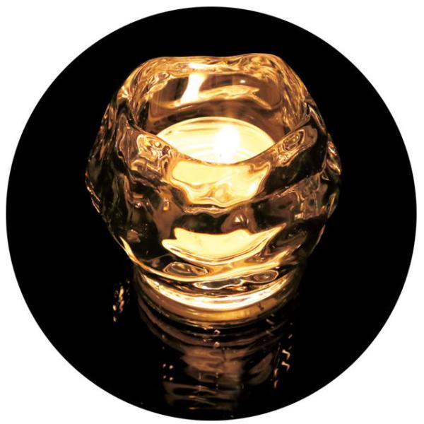キャンドルホルダー キャンドルグラス キャンドルスタンド ガラス アンティーク 間接照明 寝室 ロックアイス おしゃれ かわいい 雑貨