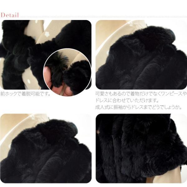 着物 ケープ レッキスパイピング ケープ 黒 和装 洋装 ポンチョ 毛皮 マント 大人 レディース 女性 宅配便のみ 10015470|753ya|03