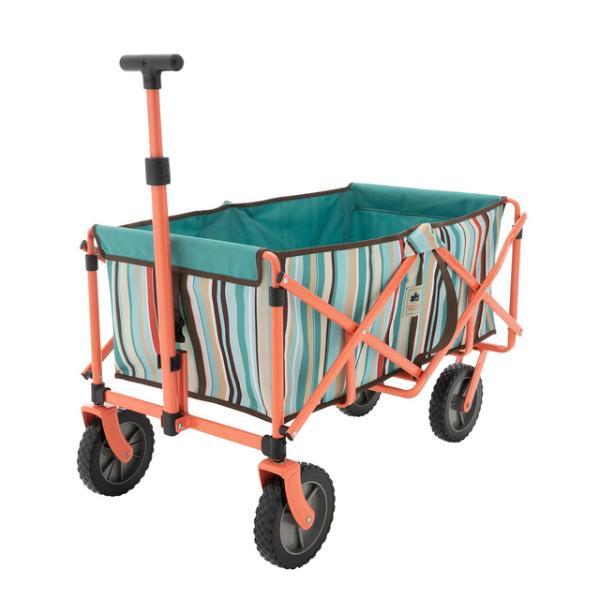 ロゴス/LOGOS neos ラゲージキャリー(ブルーストライプ)おしゃれなキャリーカート キャンプカート キャンプキャリー