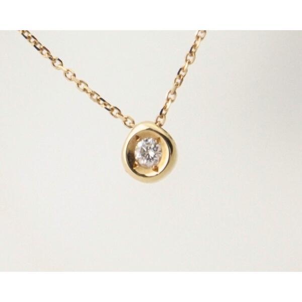 スカラベ ダイヤモンドネックレス K18(18金 イエローゴールド) 0230359 質屋出品|7saito