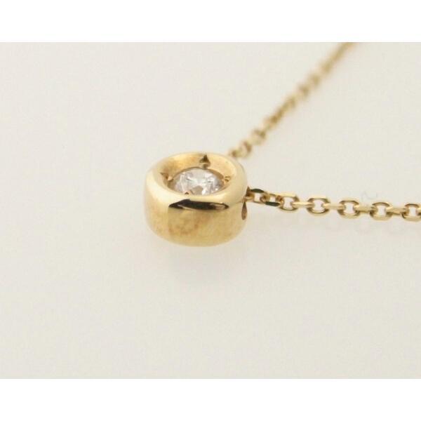 スカラベ ダイヤモンドネックレス K18(18金 イエローゴールド) 0230359 質屋出品|7saito|02