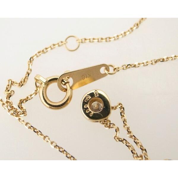 スカラベ ダイヤモンドネックレス K18(18金 イエローゴールド) 0230359 質屋出品|7saito|05