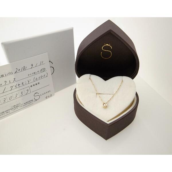 スカラベ ダイヤモンドネックレス K18(18金 イエローゴールド) 0230359 質屋出品|7saito|07