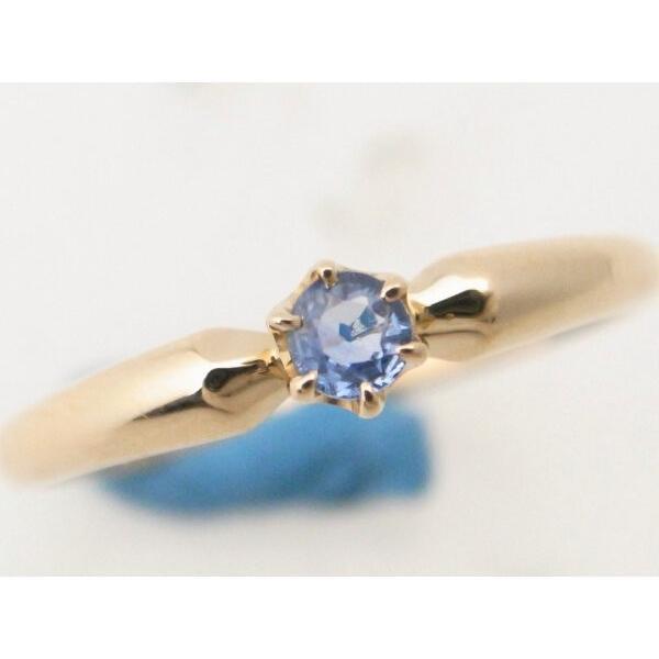 4℃ 青石リング K18YG(18金 イエローゴールド) 12号 一粒 指輪 質屋出品|7saito