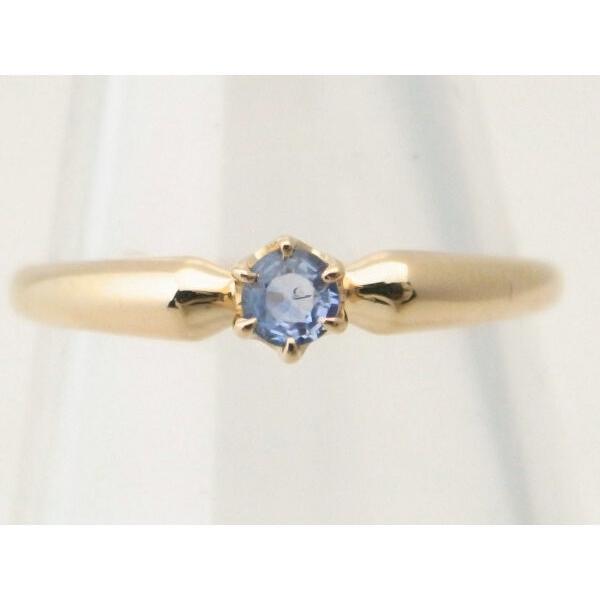 4℃ 青石リング K18YG(18金 イエローゴールド) 12号 一粒 指輪 質屋出品|7saito|02