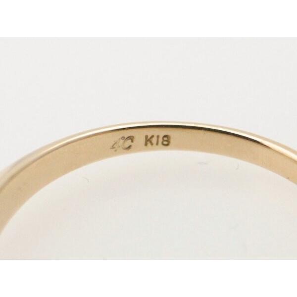 4℃ 青石リング K18YG(18金 イエローゴールド) 12号 一粒 指輪 質屋出品|7saito|05