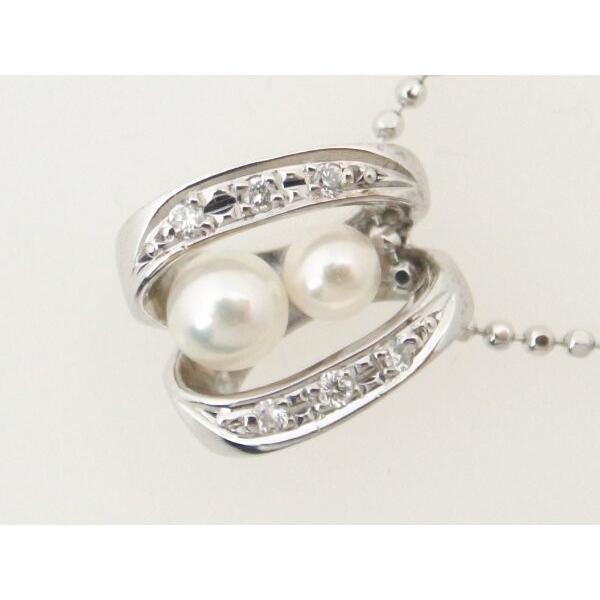 c28fe182ffed セリーヌ パールダイヤモンドネックレス K18WG(18金 ホワイトゴールド) 真珠 質屋出品|7saito ...