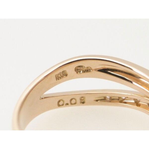 スタージュエリー ダイヤモンドリング 9号 K18PG(18金 ピンクゴールド) 質屋出品|7saito|06