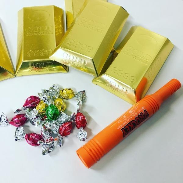 100円 バレンタイン ギリチョコ 景品 イベント GOLD 金塊 まぶしい ゴールド チョコレート|7top|03