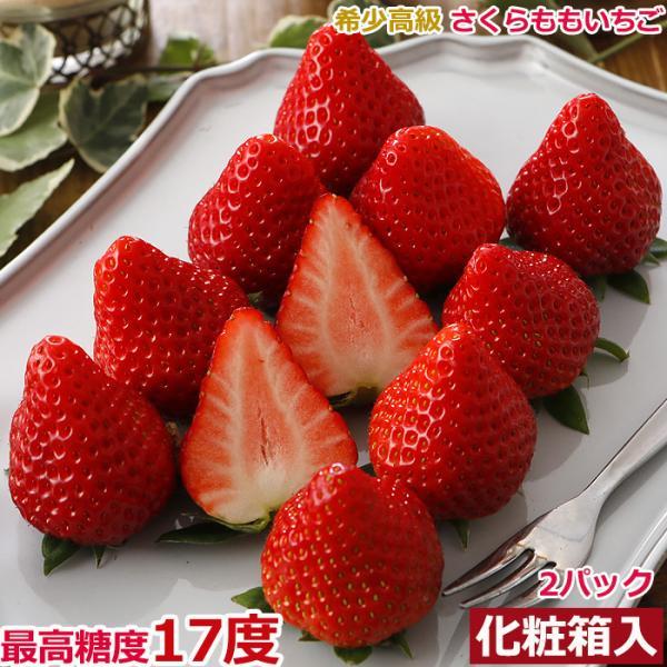 【12月出荷】徳島産 さくらももいちご 2パック 化粧箱入 贈答向け S10 12t