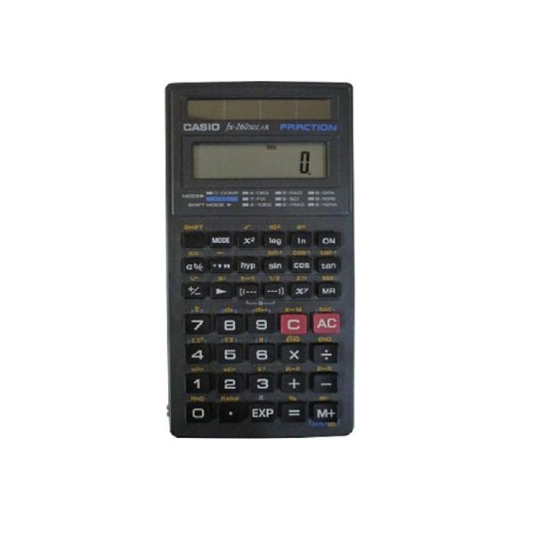 CASIO 関数電卓 fx-260 SOLAR ブラック|82netshouten