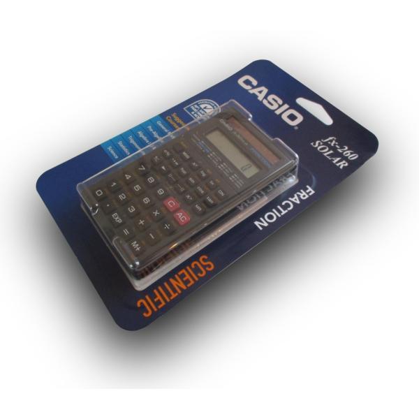 CASIO 関数電卓 fx-260 SOLAR ブラック (2個セット)|82netshouten|02