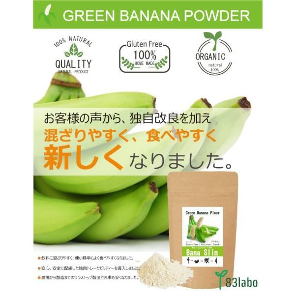 【Bana Slim】天然100%グリーンバナナパウダー!レジスタントスターチ豊富でグルテンフリー|83laboyashop