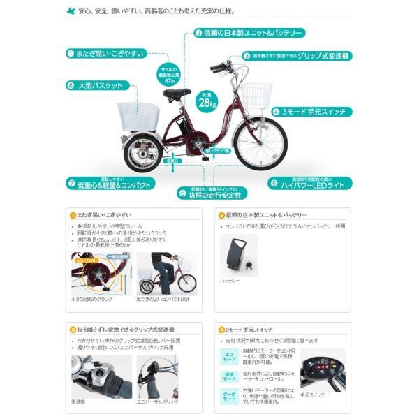 9bc2407e589b 電動アシスト三輪自転車 ASU-3W01 リハテック 専用バッテリー