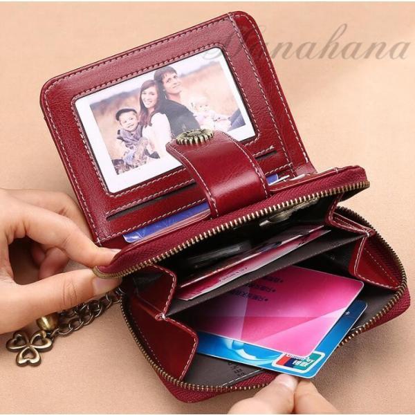 二つ折り財布 レディース 本革 牛革 大容量 カード入れ さいふ サイフ 小銭入れ 母の日 彼女 プレゼント ギフト 8787-store 05