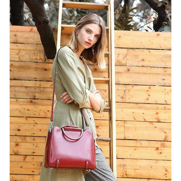 ハンドバッグ レディース 本革 牛革 可愛い ショルダー付き 斜めがけ 軽量 シンプル カジュアル 旅行 肩掛け レディースバッグ 鞄|8787-store|10